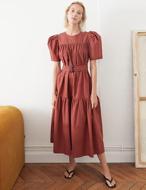 В винтажном стиле платье