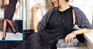 Праздничное черное платье из шелка