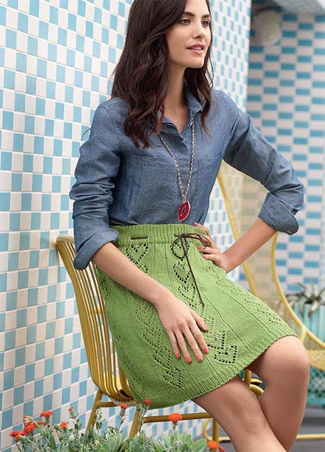 Романтичная Валентинка юбка фисташково-зеленого цвета