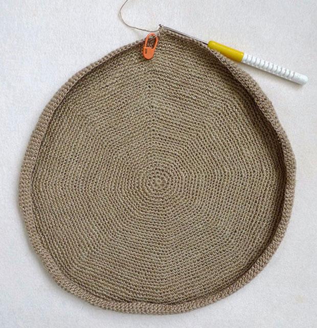 Вяжем круглое плотное дно