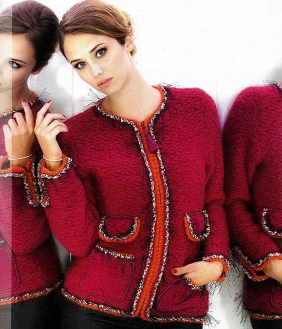 Жакет цвета фуксии в стиле Коко Шанель
