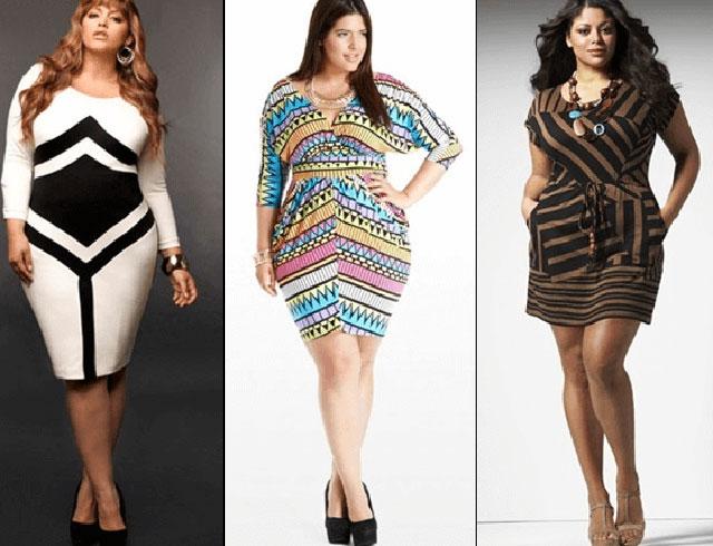Одежда разных цветов для пышных дам