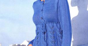 Хлопковая туника синего цвета