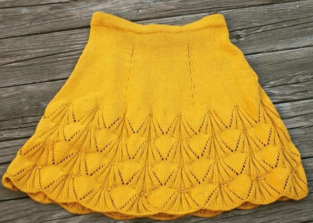 Фото желтой юбки