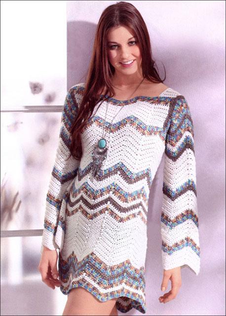 Платье в стиле Миссони в полоску