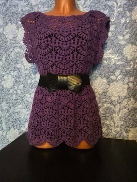 Туника фиолетового цвета