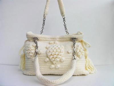 Мастер-класс сумки в стиле Анжелины узором с шишечками