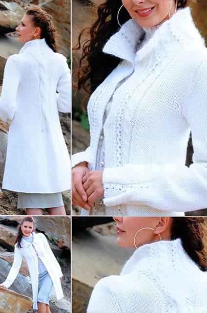 Жакет или пальто белого цвета детали