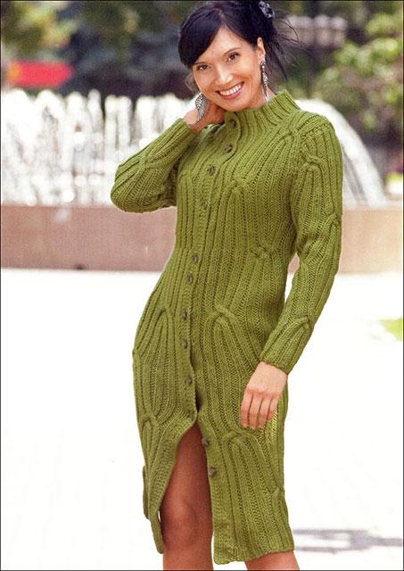 Пальто Лиана зеленого цвета