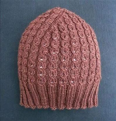 Эластичная розовая шапка Трюфель