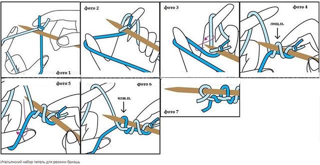 Схема как связать шарф в технике бриошь