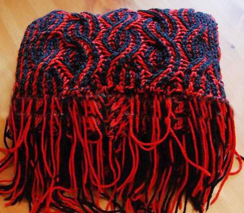 Как связать шарф в технике бриошь