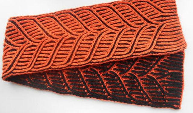 Шарф в технике бриошь из мериносовой шерсти