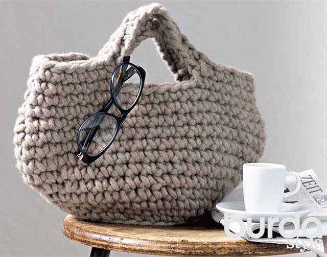 Дизайнерская сумка из толстой пряжи