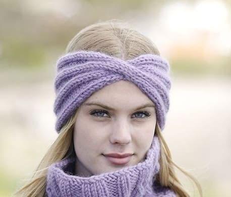 Женская повязка «Теплая лаванда»