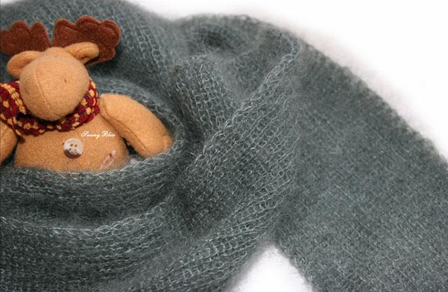 Модель шарфа для начинающих