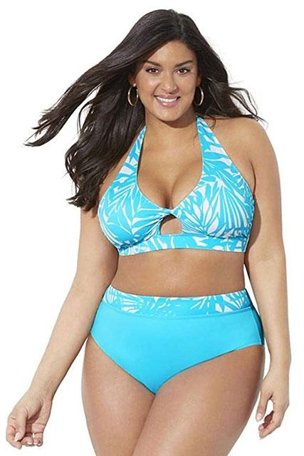 Лазурный комплект бикини большого размера от Swimsuits For All