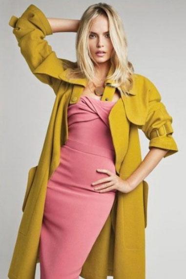 Эффектные луки с пальто желтого оттенка