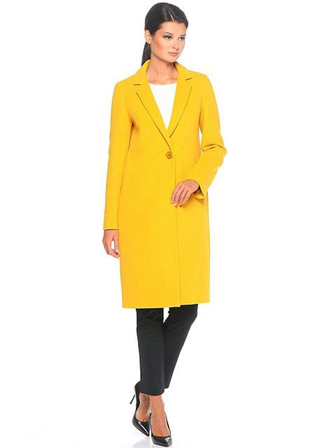 Классическое желтое пальто
