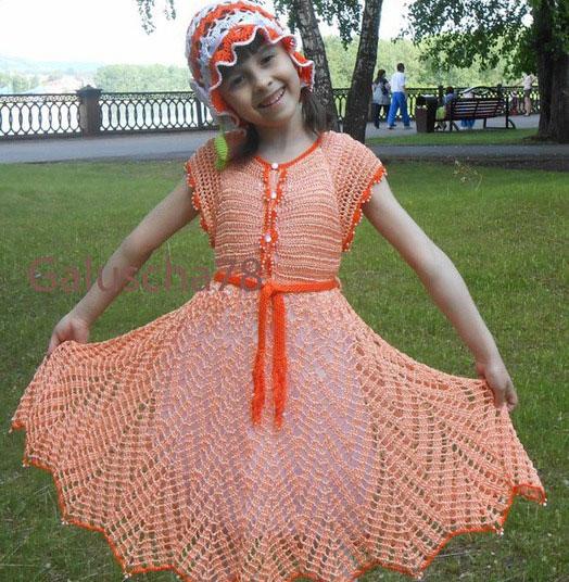 Ажурное платье-сарафан для девочки