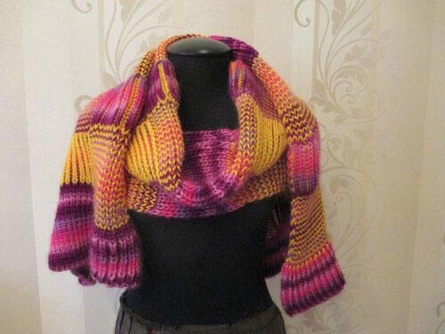 Разноцветный шарф